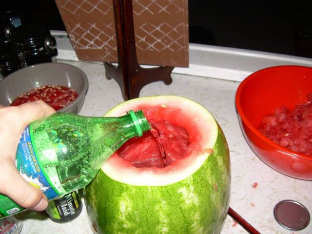 Unusual Way to Make a Vodka Melon Punch