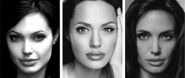 B&W Angelina's Portraits from 1989 till Now