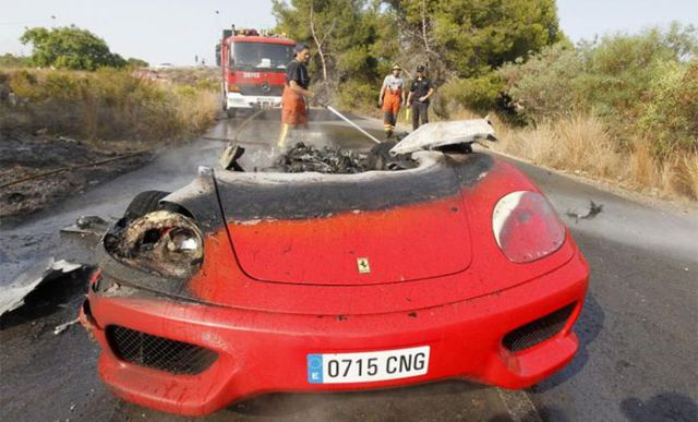 Ferrari Fail for a Football Player