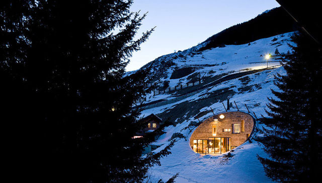 Amazing Swiss House Inside a Hill