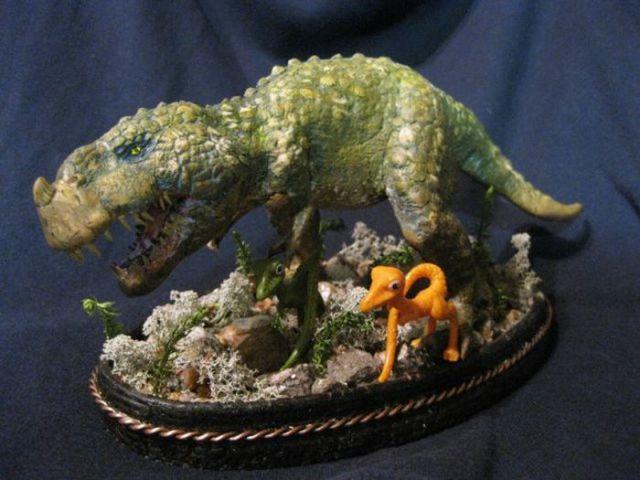 Handmade T-Rex Model
