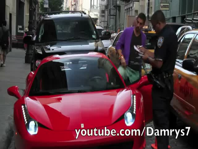 Never Run Over a Cop, Even if You Own a Ferrari!