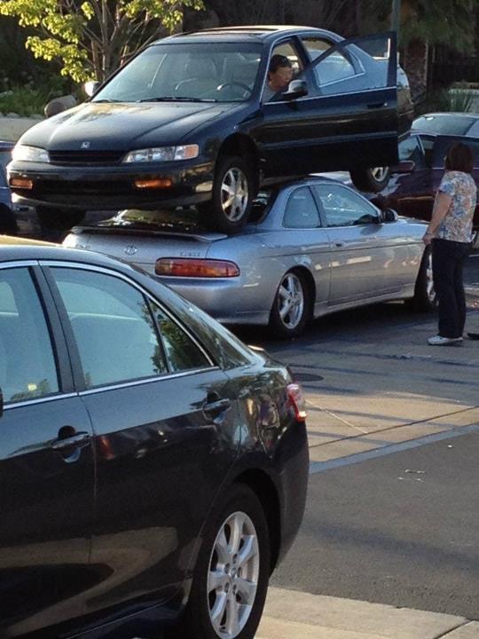 Bizarre Car Crash in California