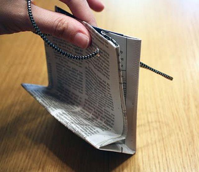 DIY Newspaper Gift Bag