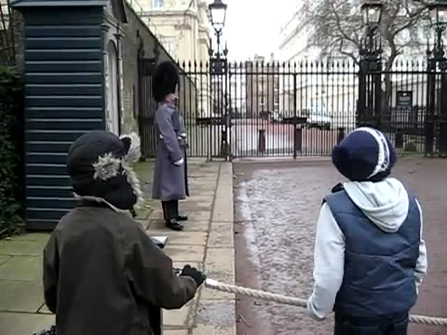 Even a British Royal Guard's Patience Has Its Limits