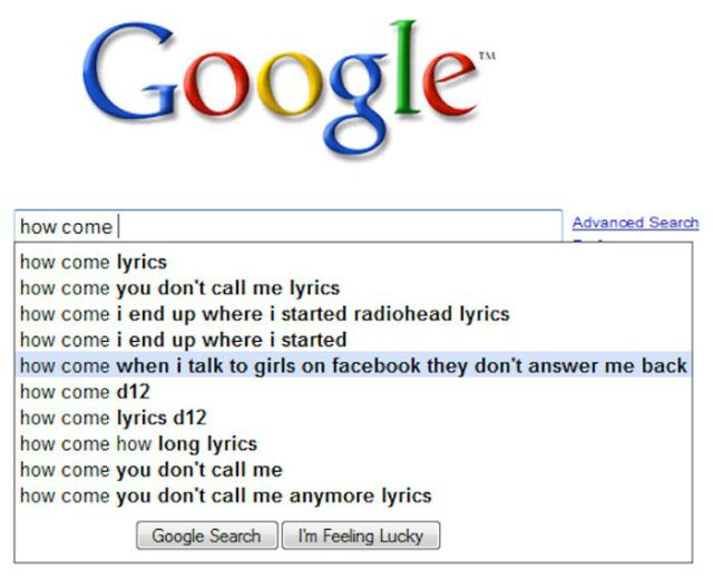 Funny and WTF Google Search Suggestions