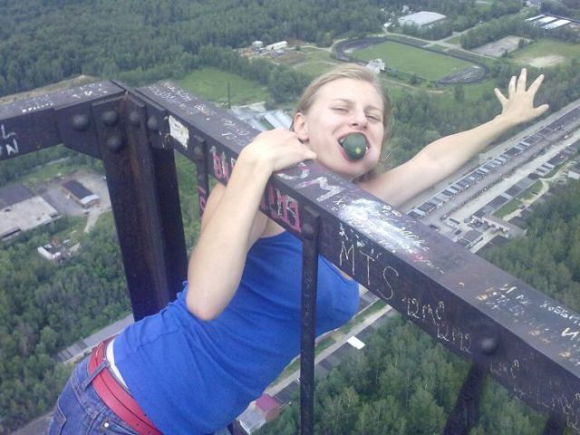 This Busty Russian Adores Heights