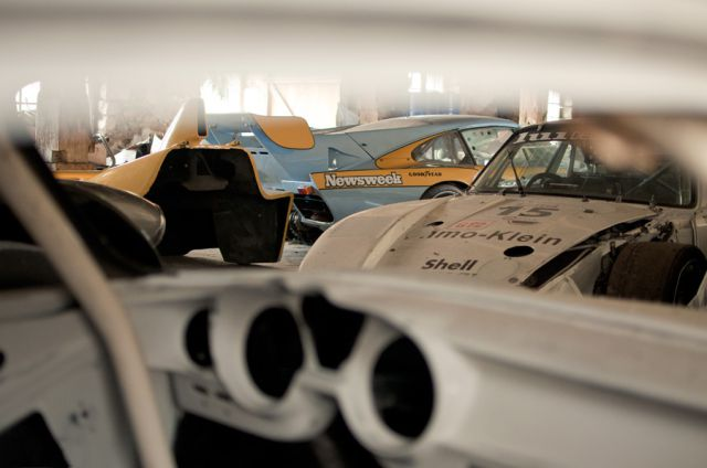 Vintage Racing Car Collection in a Small French Village