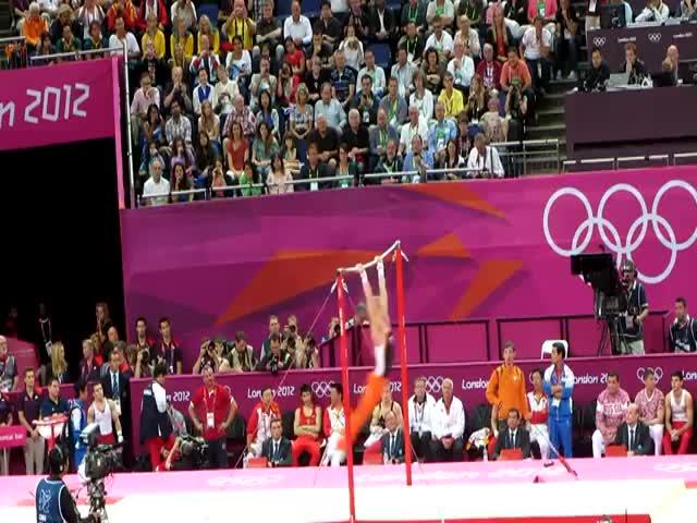 Most Amazing Horizontal Bar Performance at the Olympics