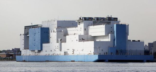 Giant Floating Prison in NYC