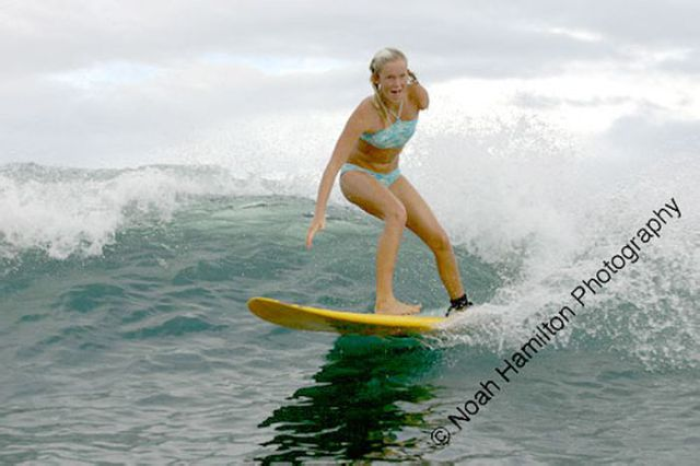Awesome One-Armed Surfer