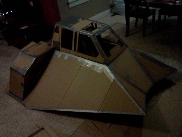 Making of a Snowspeeder Gravity Racer