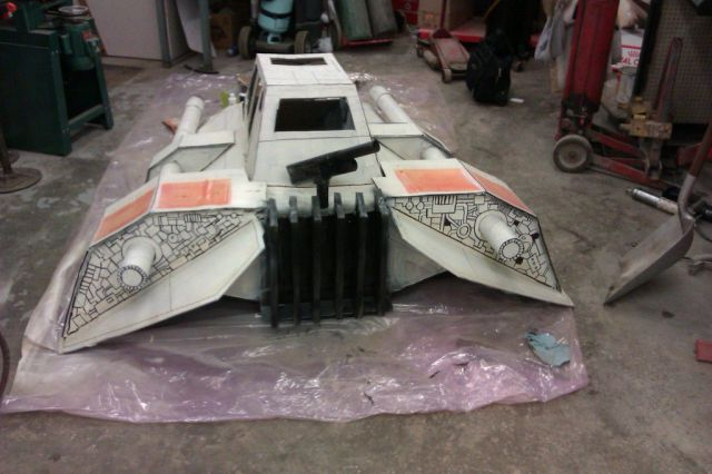 Making of a Snowspeeder Gravity Racer