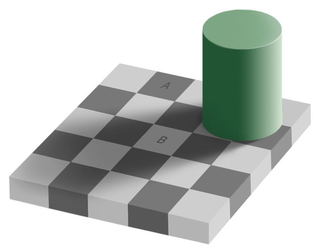 Fantastic Checkerboard Shadow Illusion