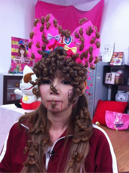 Bizarre Headwear of Japanese Cosplayer