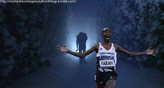 """Mo Farah Running Away from Things"" Pictures are Simply Priceless"