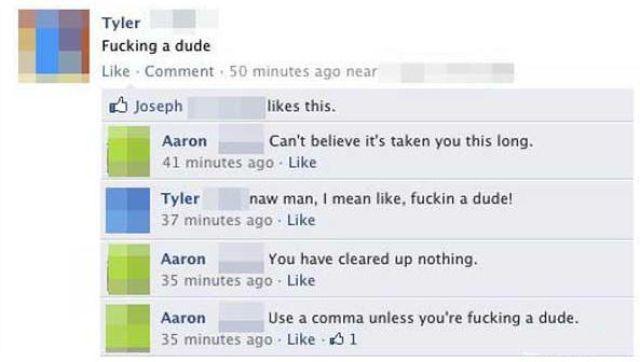 When Grammar and Punctuation Matter