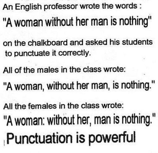 When Grammar and Punctuation Matter