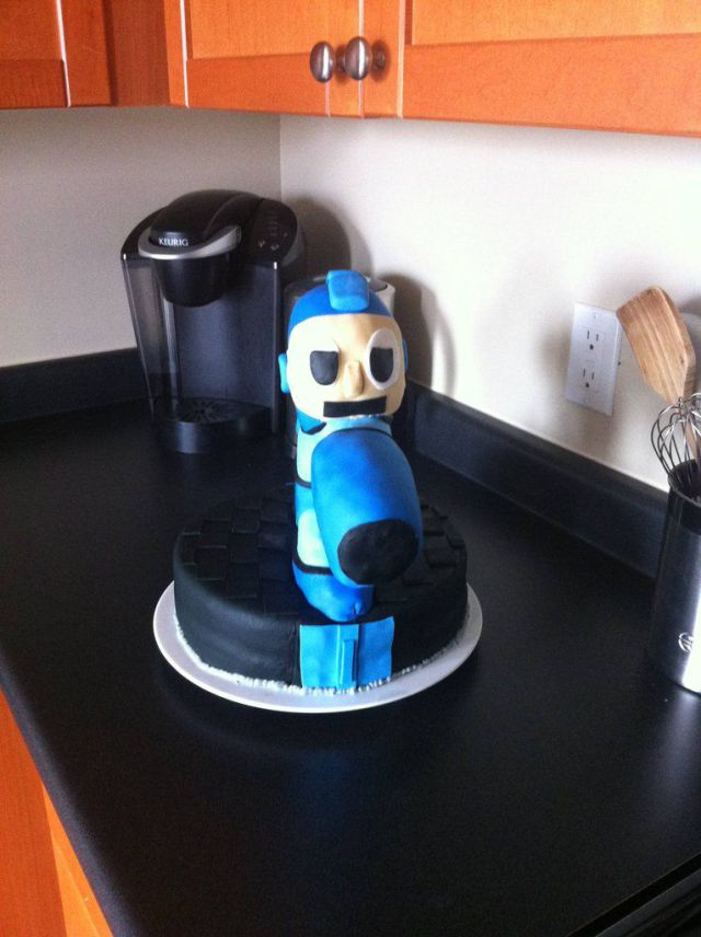 Homemade Mega Man Cake