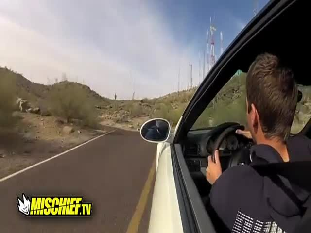 Rich Kid and His BMW M3 vs Rocks