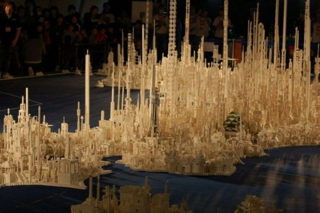 Map of Japan Built with 1.8 Million of LEGOs