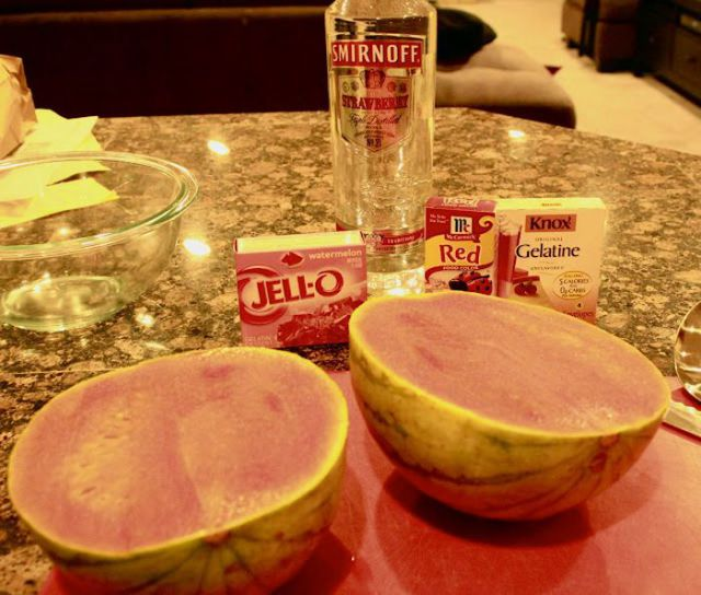 The Recipe of Watermelon Slice Jello Shots