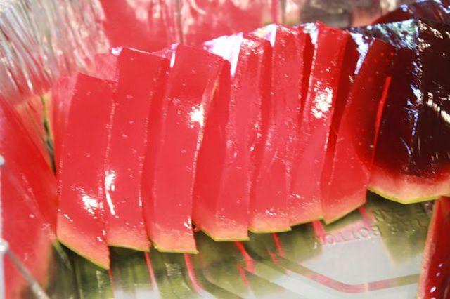 The Recipe of Watermelon Slice Jello Shots