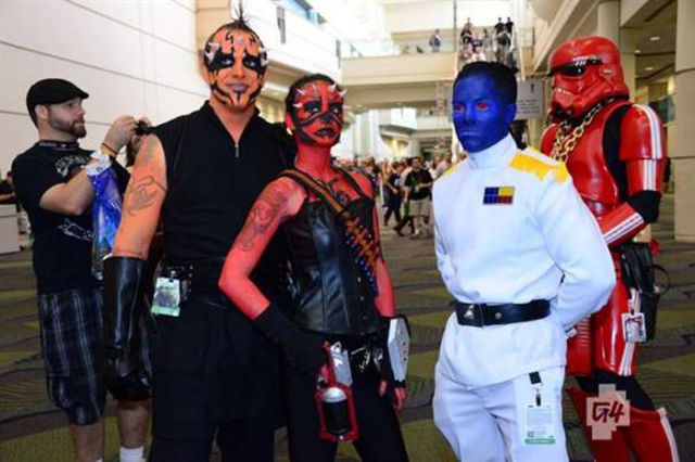 Cosplayers of the VI Star Wars Celebration