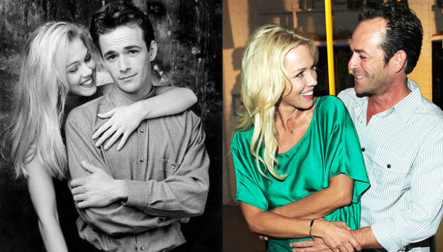 Jennie Garth and Luke Perry Then and Now