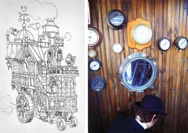 Incredible Steampunk House on Wheels