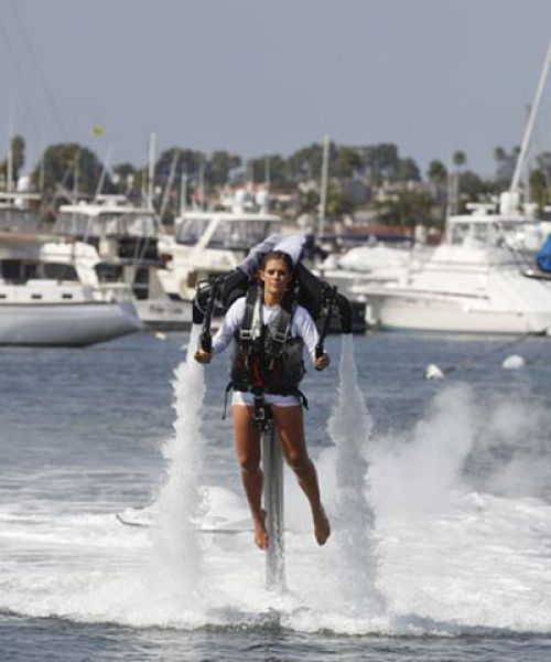 Jet Pack Wedding of an American Couple
