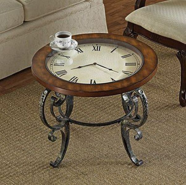 Creative ideas for home interior design 48 pics Coffee table with clock