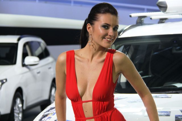 Girls of Moscow Car Show