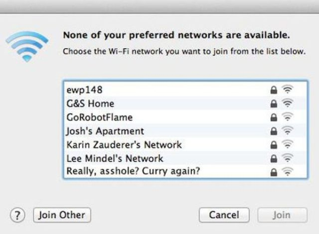 Talking to Neighbors via Wi-Fi Network Names