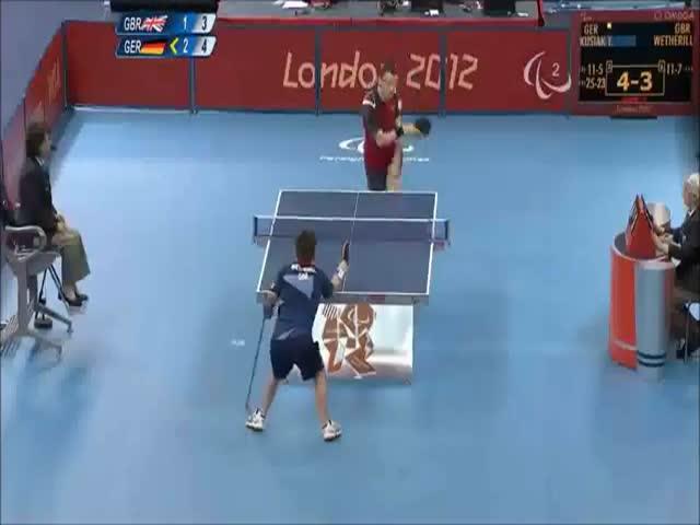 Incredible Table Tennis Shot at the Paralympics