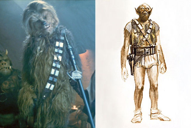 Early Concept Art of Movie Characters