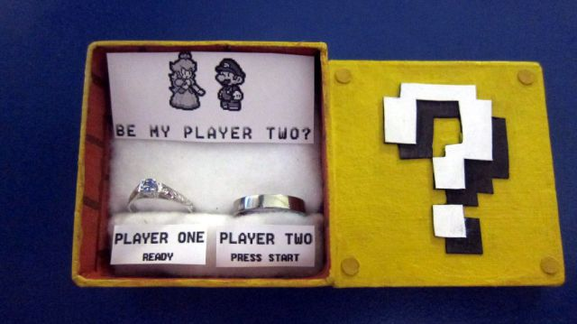 Marriage Proposal for Super Mario Fan