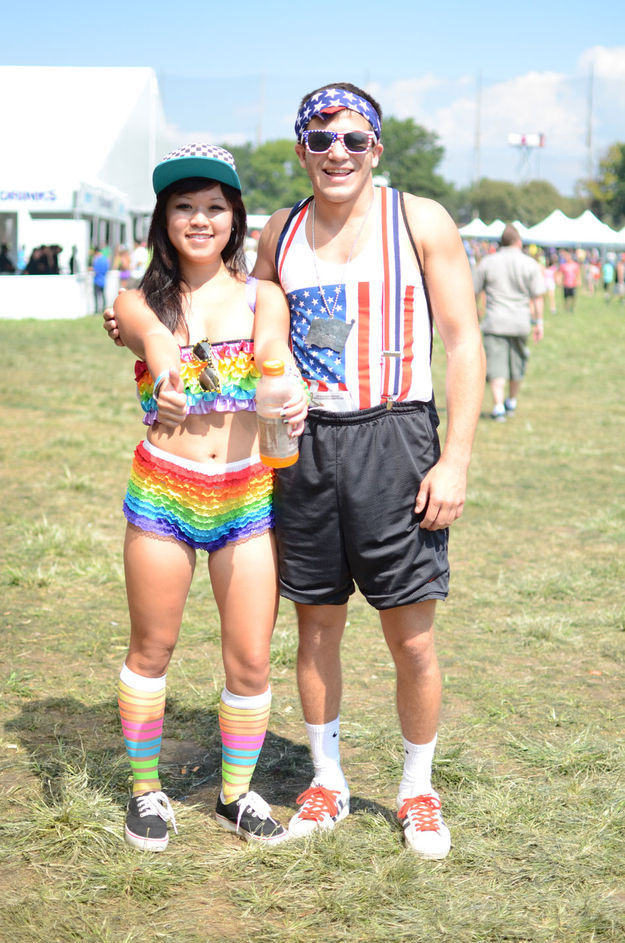 Rave Music Fans at New York's Electric Zoo Festival