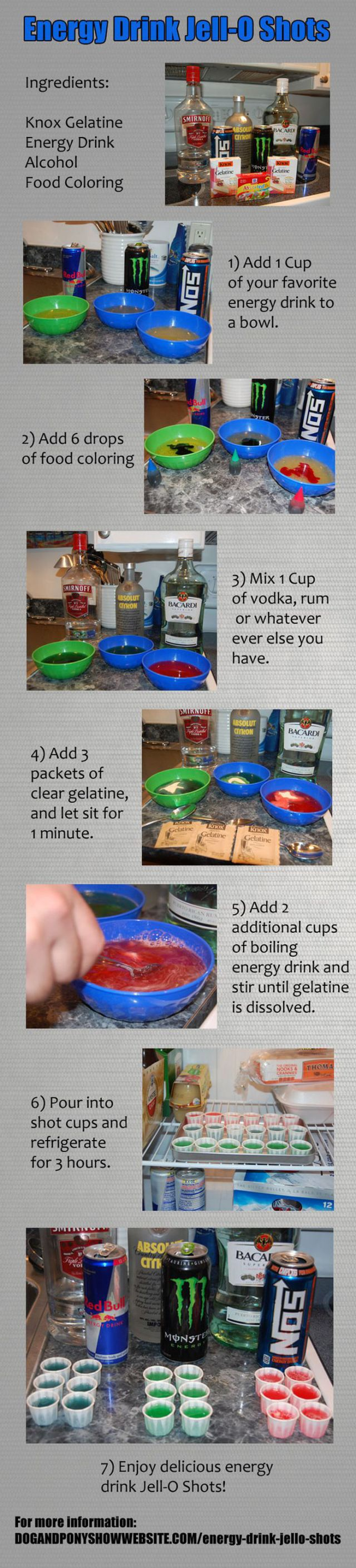 How to Make Energy Drink Jell-O Shots