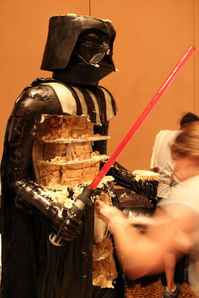 Making of Life-Size Darth Vader Cake