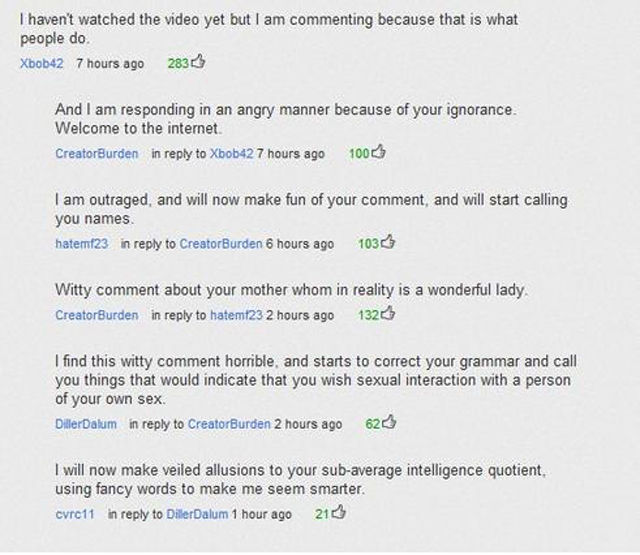 Really Funny YouTube Comments. Part 4