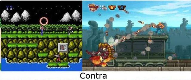 Classic Video Games Evolution