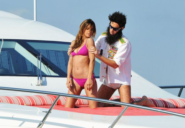 Yacht Adventure of Sacha Baron Cohen and Elisabetta Canalis