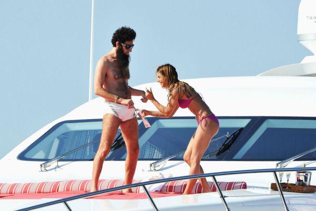 Yacht Adventure of Sacha Baron Cohen and Elisabetta Canalis