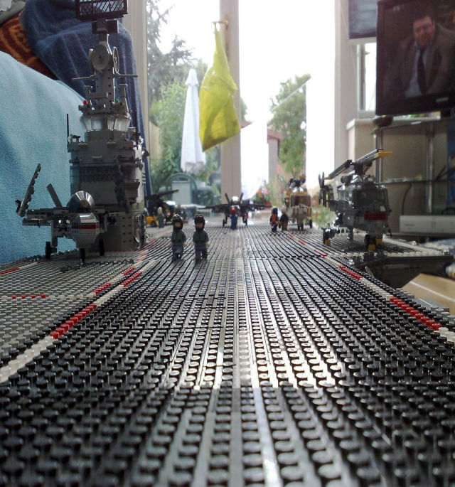 Cool DIY LEGO Aircraft Carrier