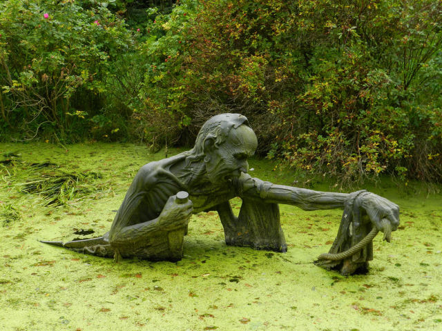Scary Swamp Sculpture from Ireland