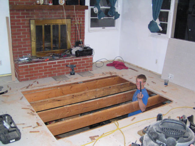 DIY Hidden Hot Tub