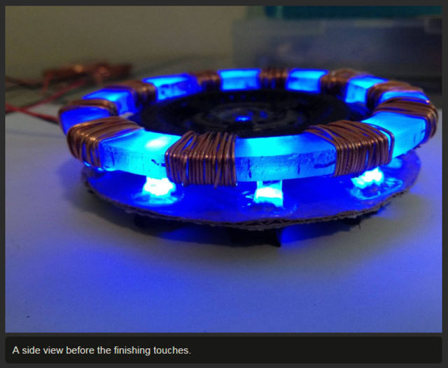 Iron Man's Arc Reactor Made from Things Around the House