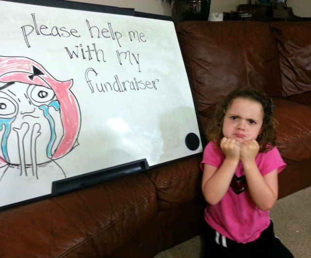 Memes Help Little Girl's School Fundraising