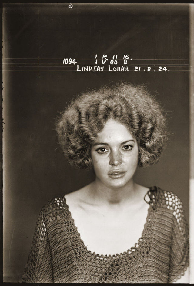 Vintage Mugshots of Celebrities